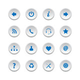 Web buttons set 2 Royalty Free Stock Photo