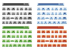 Web buttons set Stock Photos