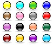 Web buttons set vector. Web buttons glossy set vector royalty free illustration