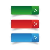 Web buttons set vector Stock Photo