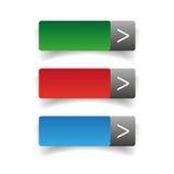 Web buttons set vector Stock Photos