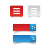 Web buttons set vector Stock Photography