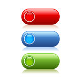 Web buttons set. On white background Stock Image