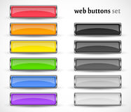 Web buttons set for your design. Varicoloured web buttons set for your design Royalty Free Stock Images