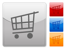 Web buttons shopping cart 2 Royalty Free Stock Photography
