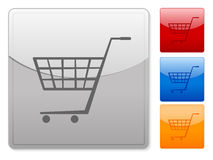 Web buttons shopping cart Royalty Free Stock Image