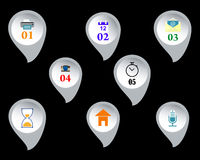 Web buttons with signs Stock Photography