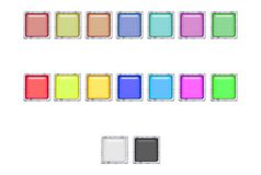 Web Buttons With Silver Border Stock Image