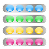 Web buttons3. Some web buttons in four different color Stock Photo