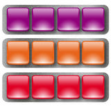 Web buttons2. Some web buttons in three different color Royalty Free Stock Photos