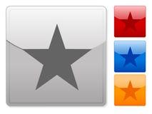 Web buttons star Stock Photos