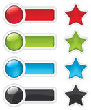 Web buttons and stars icon Stock Photos