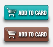 Web buttons. Stylish vector buttons Add to Card. The best choice for your website, on-line market or advertising Royalty Free Stock Photos