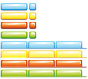 Web buttons and tags  Squares Stock Image