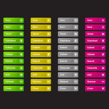 Web buttons template Stock Photography