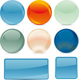 Web Buttons in vector Stock Image