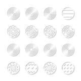 Web buttons. Vector web design of circle buttons Royalty Free Stock Photos