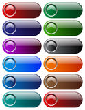 Web buttons. Vector illustration of web buttons Stock Photography
