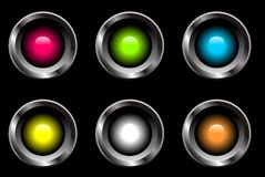 Web buttons vector set Stock Photography