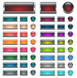 Web buttons vector set Royalty Free Stock Photo