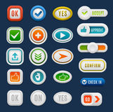 Web buttons vector set. Stock Photography
