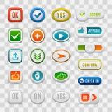 Web buttons vector set. Stock Photos
