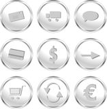Web buttons for web shop/e-commerce Royalty Free Stock Images