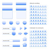 Web Buttons and Web Tools Collection Royalty Free Stock Photo