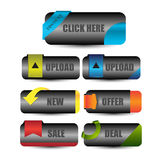 Web buttons for website or app Royalty Free Stock Image