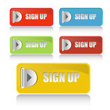 Web buttons for website or app Royalty Free Stock Photography