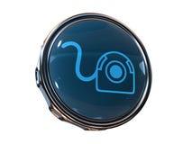 Web-Cámara del icono 3d Imagen de archivo