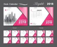 Web, calendar, desk, real estate, beauty, cosmetics, wave, minimal, page, 2019, date, monday, corporate, media, january, business,. Set Desk Calendar 2018 Royalty Free Stock Photo