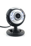 Web cam. Close up of web cam in isolated white background royalty free stock photography