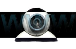 Web cam. Era with WWW letters in front of it Royalty Free Stock Photo