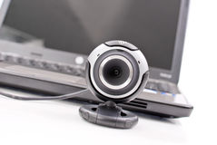 Web Cam. In Front Of Laptop stock image