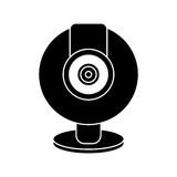 Web cam computer rounded icon pictogram Stock Photo