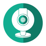 Web cam computer rounded icon shadow Royalty Free Stock Photography