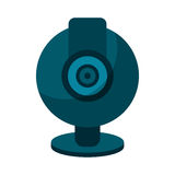 Web cam computer rounded icon Stock Image