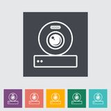 Web cam icon. Royalty Free Stock Photos