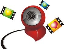 Web Cam illustration Stock Images