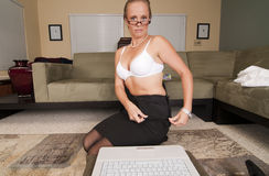 Web Cam Striptease Series Stock Photography