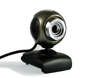 Web Camera. A good little web camera. Isolated on white, with light shadow Royalty Free Stock Photography