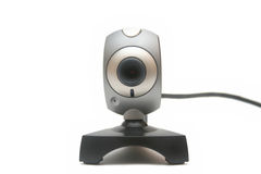 Web camera. Front view of web or internet camera isolated on white background Royalty Free Stock Photos