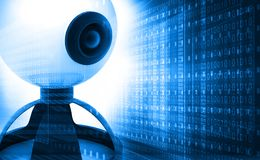 Web camera on binary background. 3d render of web camera on binary background Royalty Free Stock Photos