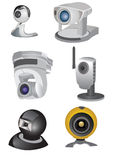 Web camera collection Stock Photos