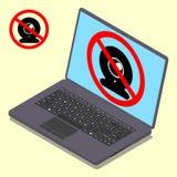 Web camera error. Vector illustration. Stock Photography