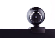 Web camera with the eye, making it's surveillance Royalty Free Stock Images
