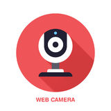 Web camera flat style icon. Wireless technology, video computer device sign. Vector illustration of communication. Equipment for electronics store Royalty Free Stock Image