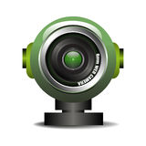 web camera. Green web camera  on a white background Royalty Free Stock Images