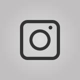 Web Camera Icon isolated on grey background. Flat style design Vector Royalty Free Stock Photo